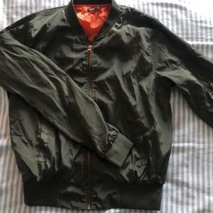 love culture army green jacket
